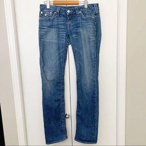 True Religion Straight Rhinestone Jeans